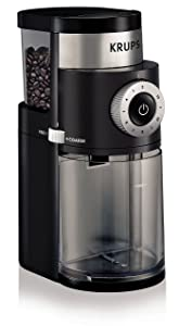 KRUPS GX5000 Professional Electric Coffee Burr Grinder with Grind Size and Cup Selection