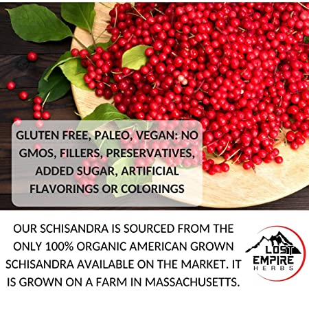 Schisandra Powder - 5:1 Organic Concentrate - Anti-Aging Adaptogenic Herb,  Liver Detox, Cognitive