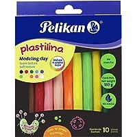 Plastilina Con 10 Barras Colores Surtidos Neón