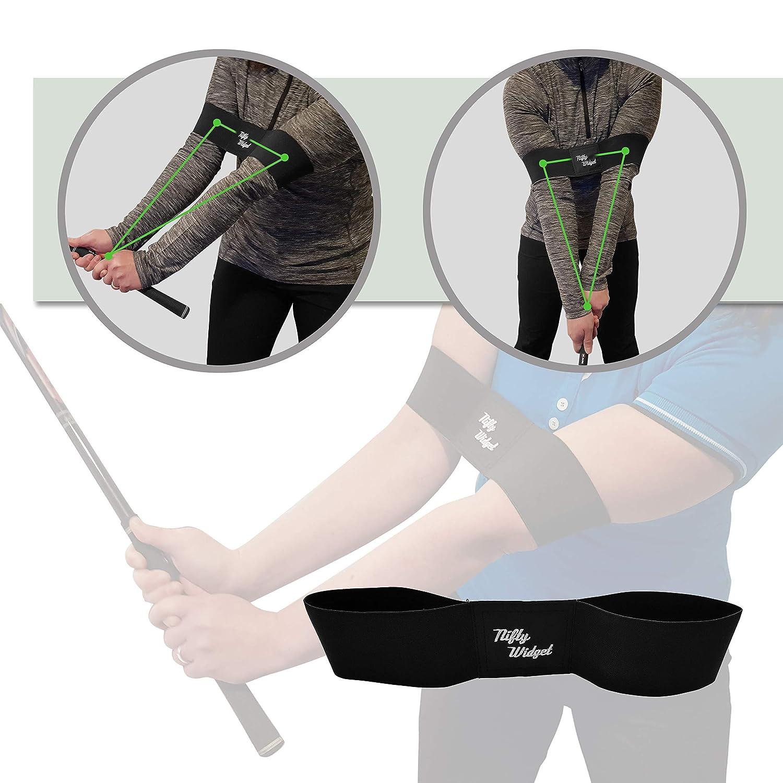 ゴルフスイングトレーニング補助アームバンド - 姿勢、手首、肘の固定に最適なトレーニングストラップ 使いやすい - 左利きと右利きの両方で使えます。 初心者からプロまで、ゴルファーへのギフトに最適。   B07KSLS93H