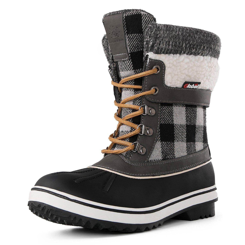 Globalwin Women's Waterproof Winter Snow Boots (8.5 D(M) US Women's, Black/Grey1738) by Global Win (Image #2)
