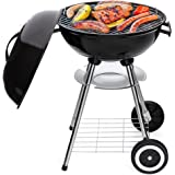 Best Choice Products 18in Portable Steel Charcoal Barbecue BBQ Grill for Patio, Picnic, Tailgate w/Heat Control - Black