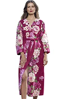 Dynasty Robes Women s Printed Cotton Long Robe With Kimono Collar-Splendid  Season fb4217f61