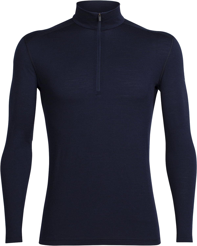 Icebreaker Oasis LS Half Zip Camisetas, Hombre, Azul (Midnight Navy), S