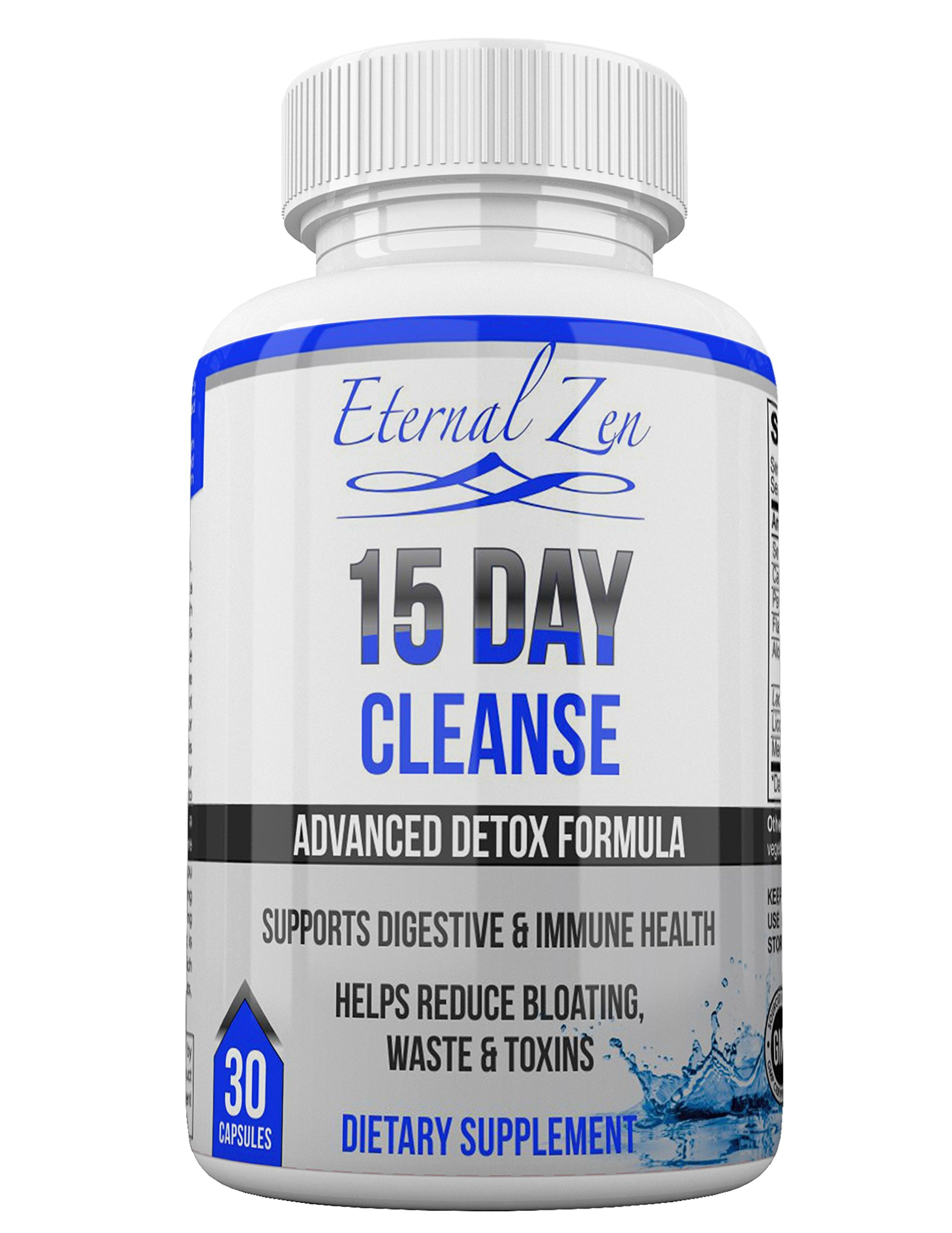 Super Strength Colon Cleanse & Weight Loss Detox Pills 15 Day Dietary Supplement & Digestive Support for Men & Women 100% Natural Herbs & Probiotics for Healthy Body Liver & Gut Made in USA Non-GMO