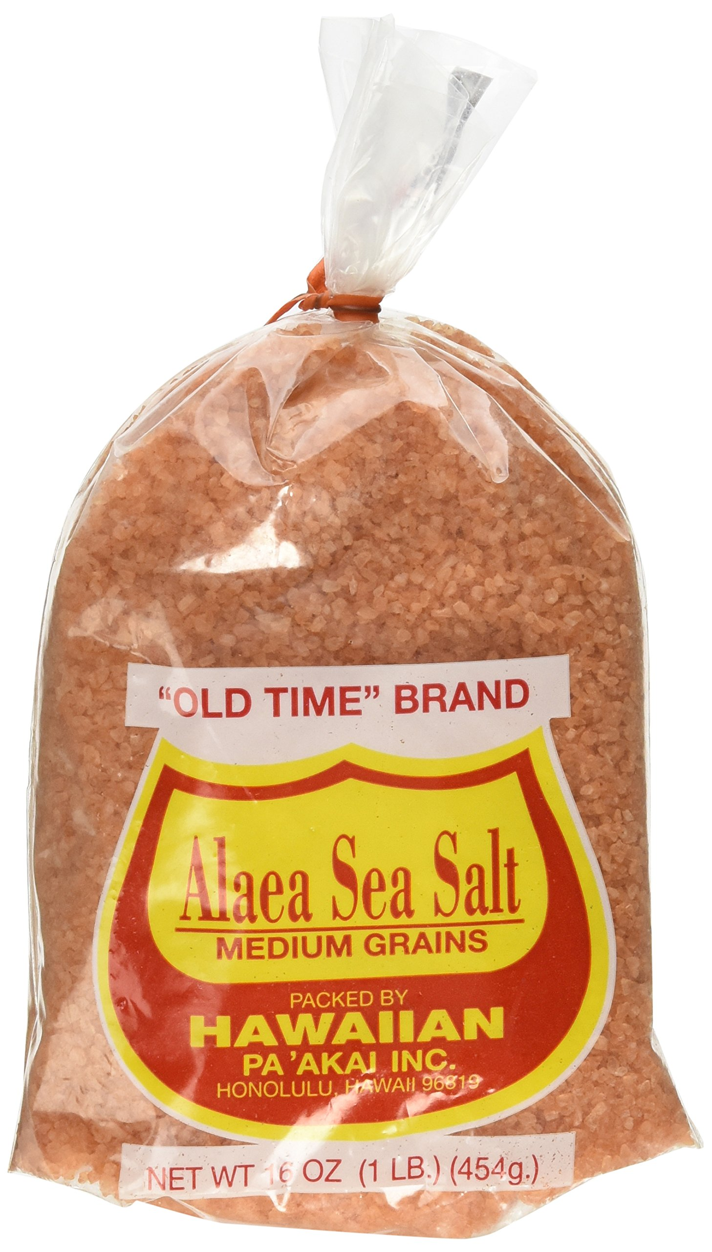 Hawaiian Pa'Akai Inc, Alaea Sea Salt Medium Grains, 16 oz