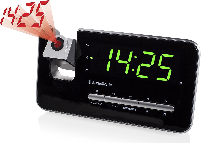 Audiosonic CL-1492 – Reloj despertador con dos alarmas, radio FM ...