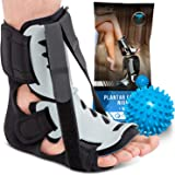 Plantar Fasciitis Night Splint - Adjustable Foot Drop Support for Plantar Fascia, Arch Pain, Achilles Tendonitis - Fits…