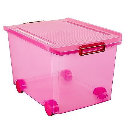 Tatay 1150312 Caja Multiusos con Ruedas, 60 l, Fucsia, 40.00x56.50x36