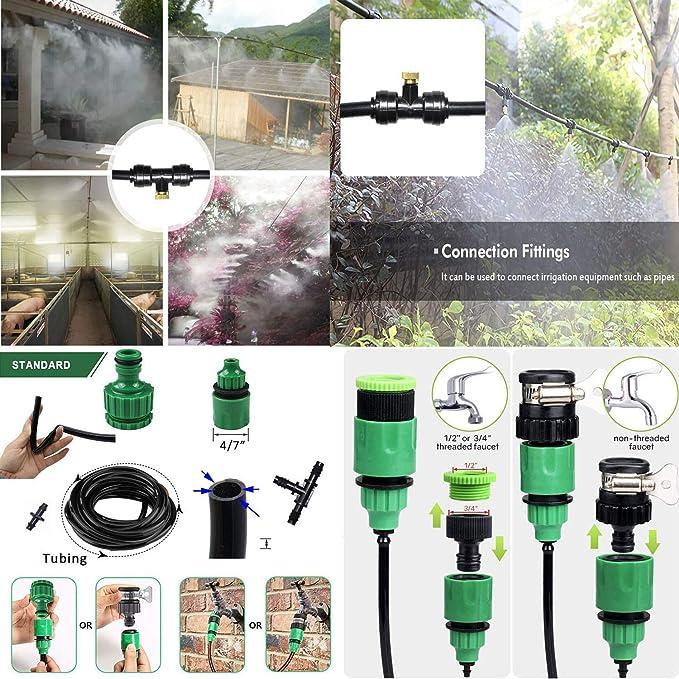 Irrigation Misting Nozzles Kit Fog Patio Cooling System Irrigation Accessory Set