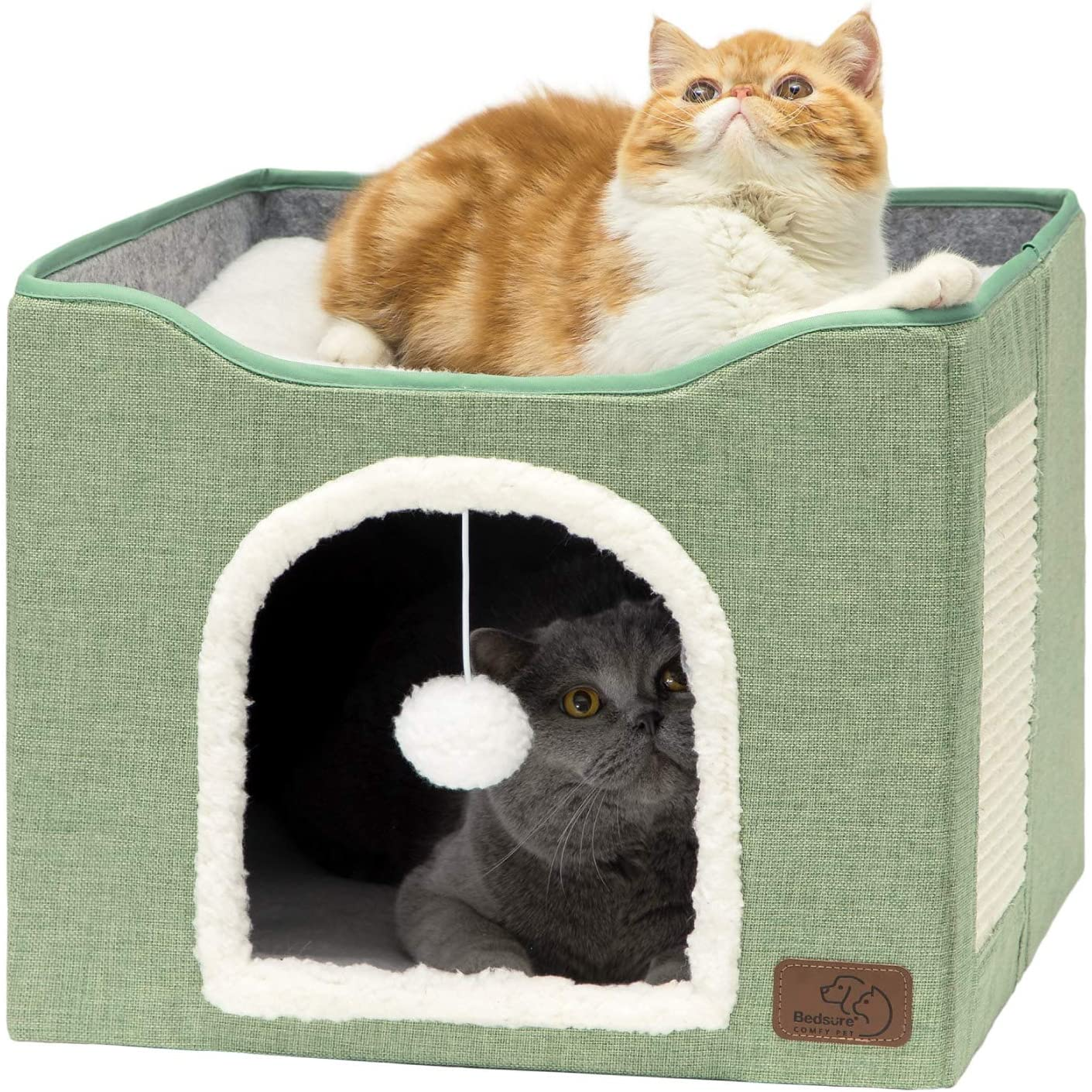 Bedsure Challenge the lowest price of Japan Cat Beds for Indoor Cave Hou Pet Over item handling ☆ Cats -Large