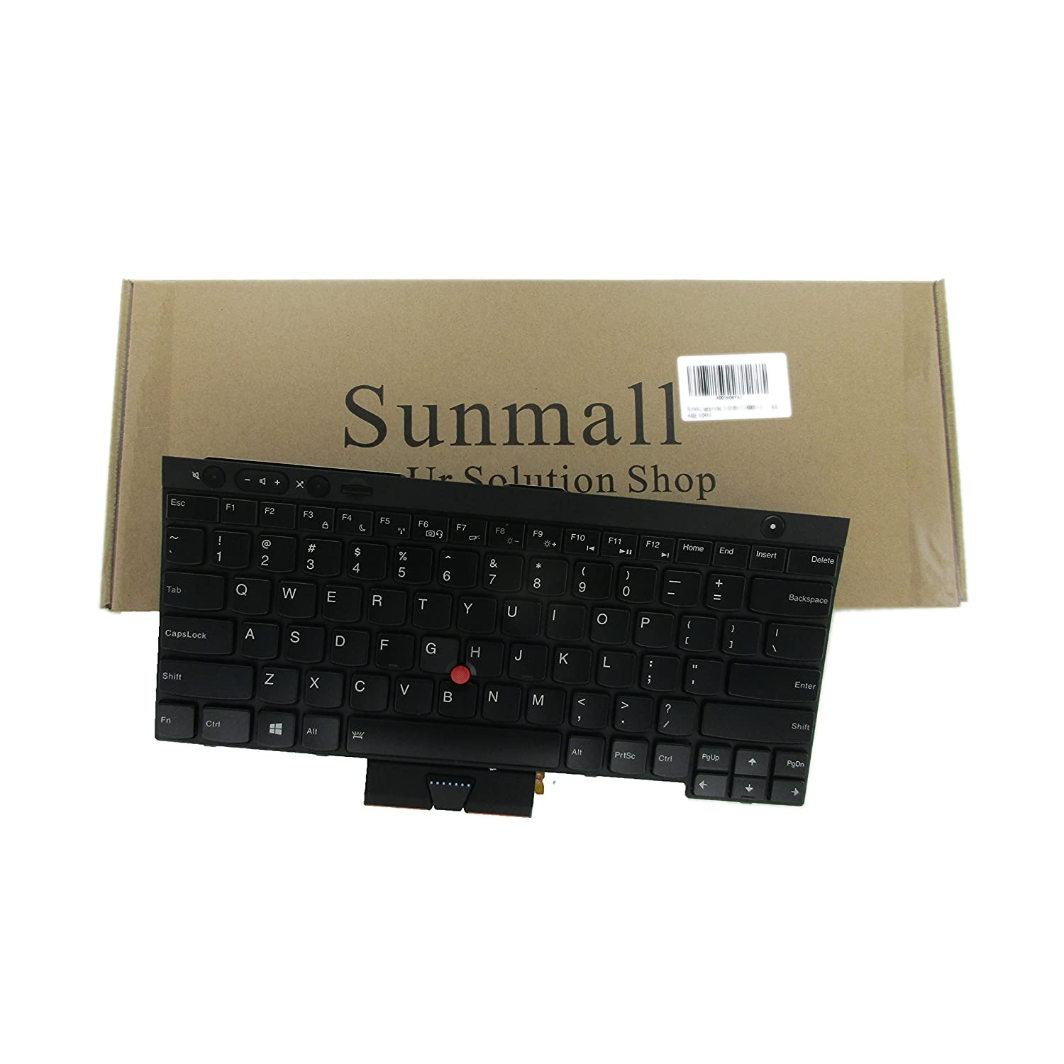 SUNMALL New Laptop Keyboard Replacement with Pointer(no Backlit) Compatible  with Lenovo IBM ThinkPad T430 T430S T430I X230 X230T X230I T530 W530 (Not
