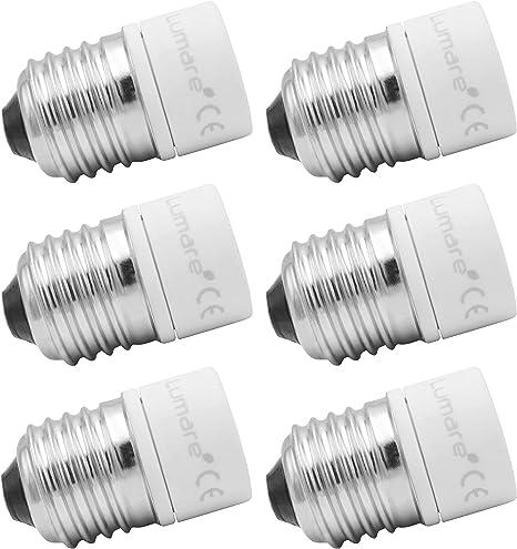 Lumare Lampensockel Adapter Von E27 Auf Gu10 Leuchtmittel Fassung Ultra Slim Keramik 6er Set Beleuchtung