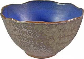 product image for Dock 6 Pottery 6-inch Wavy Edge Bowl, Blue/Copper
