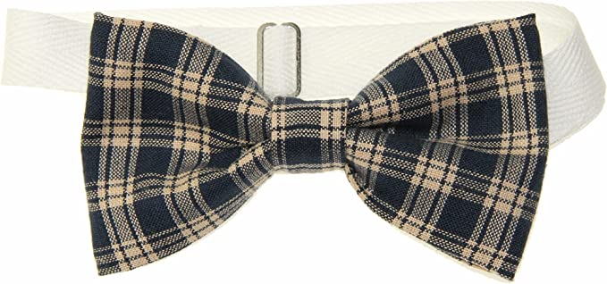 Choice of Men/'s or Boys Bow Tie Brown /& Beige Buffalo Plaid Pre-Tied Cotton Bow Tie