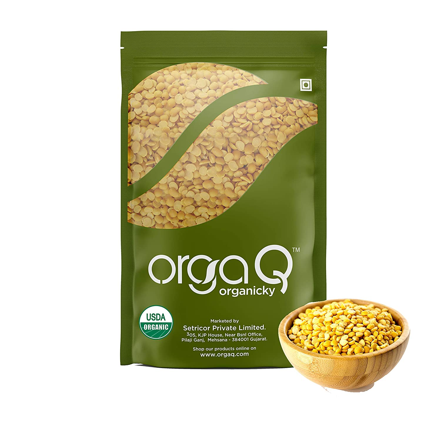 Orgaq Organicky Unpolished Yellow Chana Dal Split High Protein 500g Amazon In Grocery Gourmet Foods