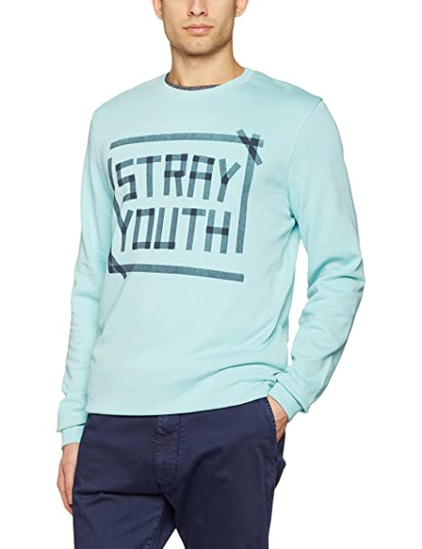 JACK & JONES Jortape Sweat Crew Neck, Sudadera Hombre, Turquesa (Aqua Haze Fit