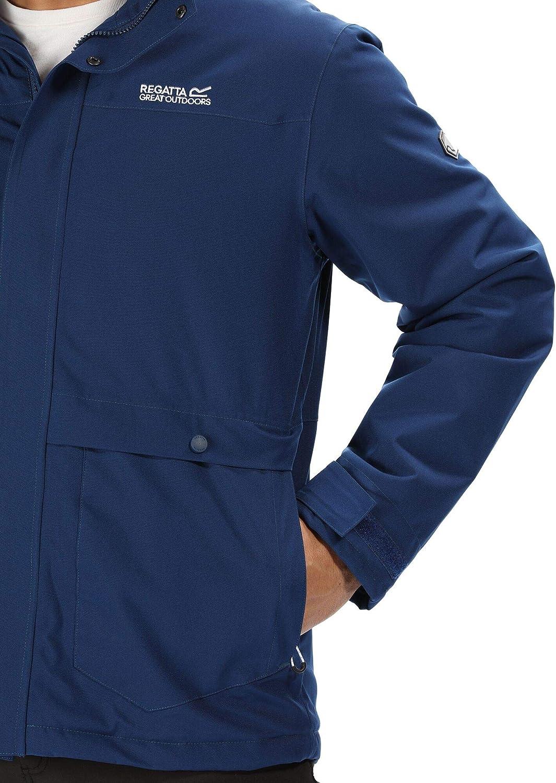 Regatta Mens Hackber Ii Waterproof /& Breathable Thermo-guard Insulated Concealed Hooded Hiking Jacket Waterproof