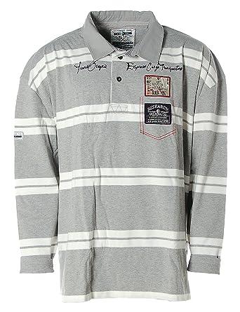 ARQUEONAUTAS Hombre Polo Polo Camiseta de Manga Larga Rayas ...