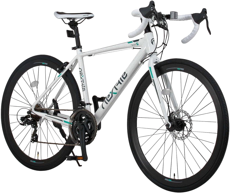 NEX TYLE (ネクスタイル) ロードバイク シマノ製21段変速 RNX-7021DC ディスクブレーキ (アルミフレーム 男性 女性 ) (ホワイト) B01N11LJJB