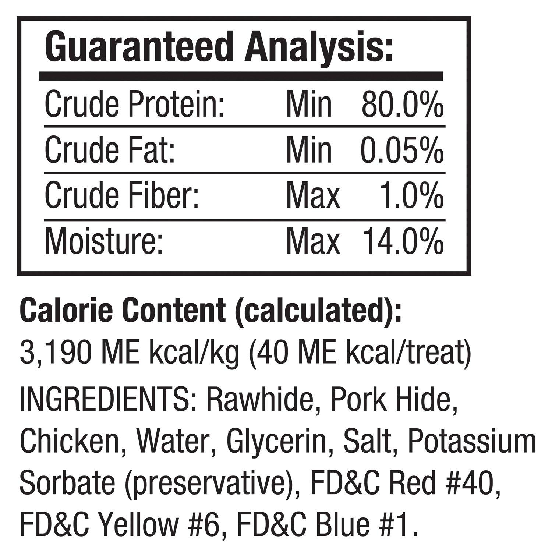 Good N Fun Triple Flavor Mini Rawhide Chews 4-Count