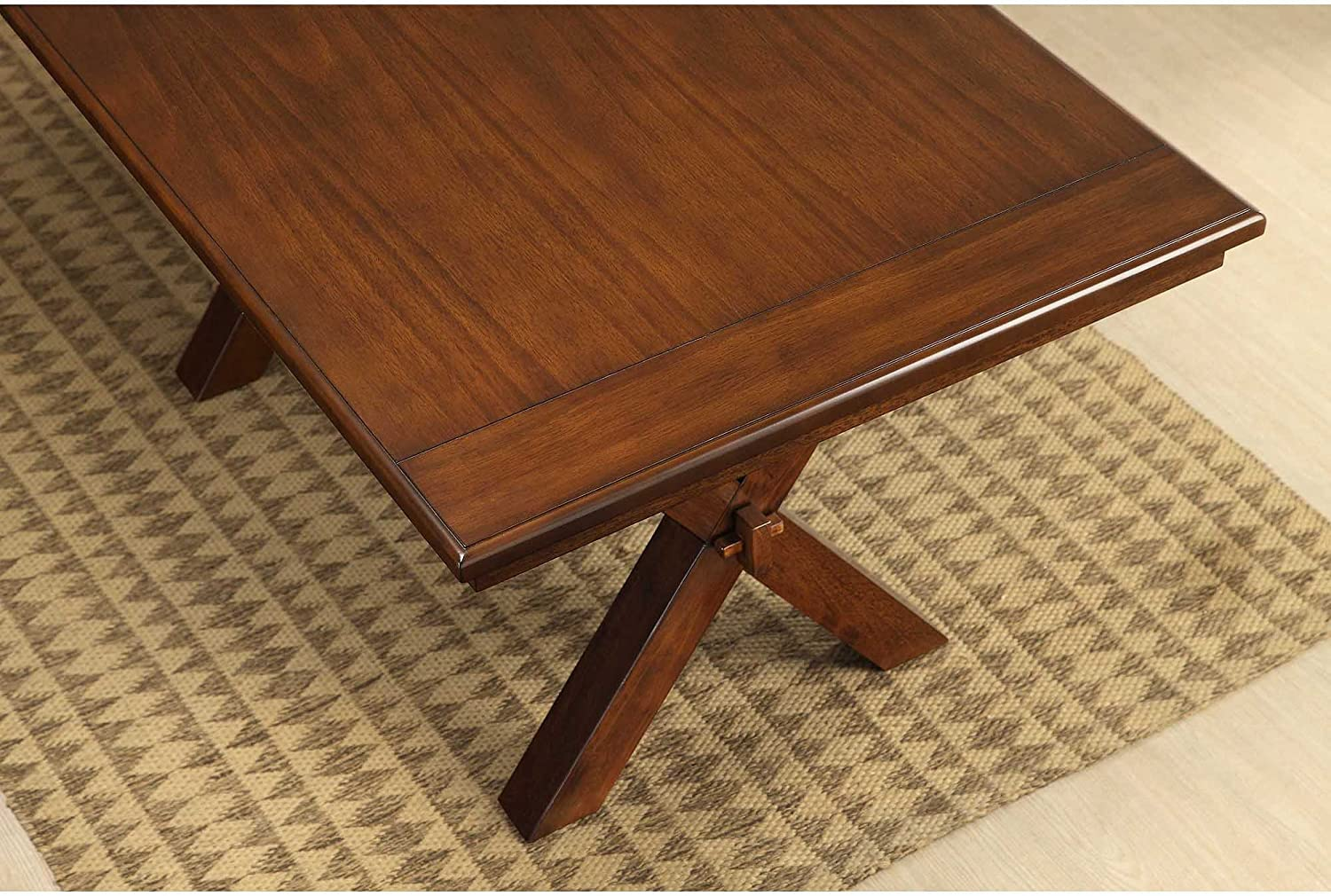 Amazon Com Better Homes And Gardens Maddox Crossing Dining Table Brown Tables