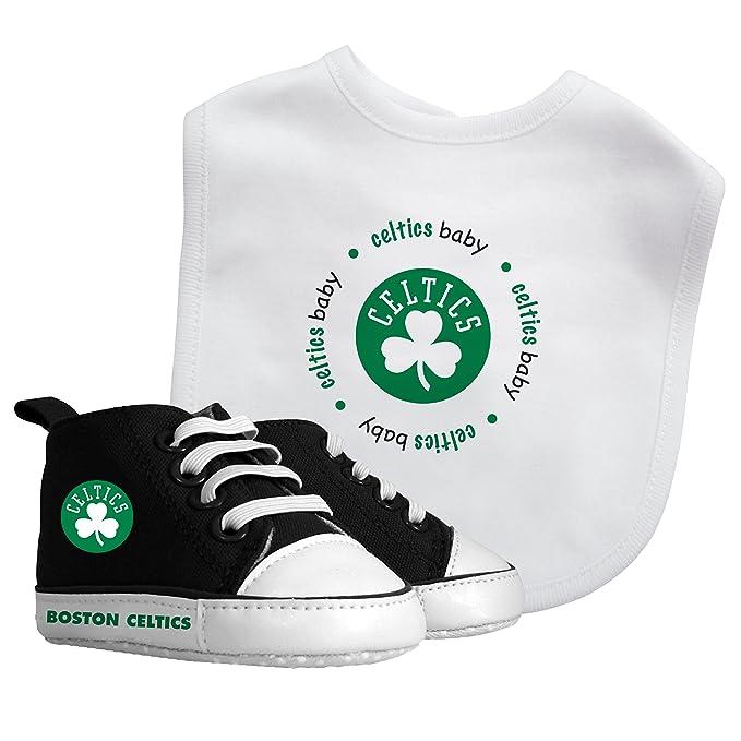 cf6f797bb Baby Fanatic NBA Boston Celtics Unisex BCS30002Bib   Prewalker Gift Set - Boston  Celtics