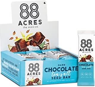 product image for 88 Acres Granola Bars | Dark Chocolate Sea Salt | Gluten Free, Nut-Free Oat and Seed Snack Bar | Vegan & Non GMO | 12 Pack