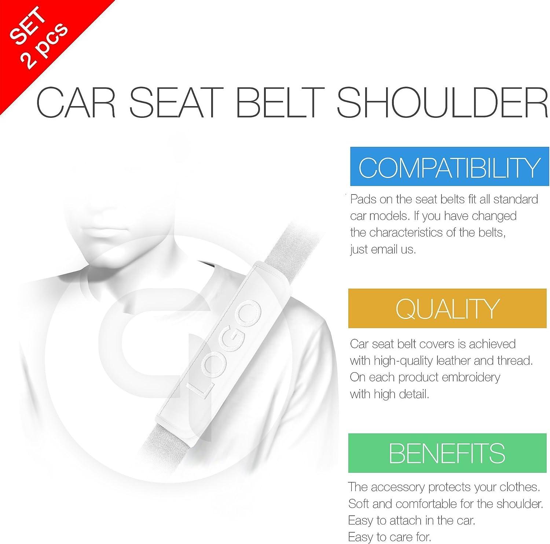 Mustang Seat Belt Cover Shoulder Pad Cushion 2 Pcs