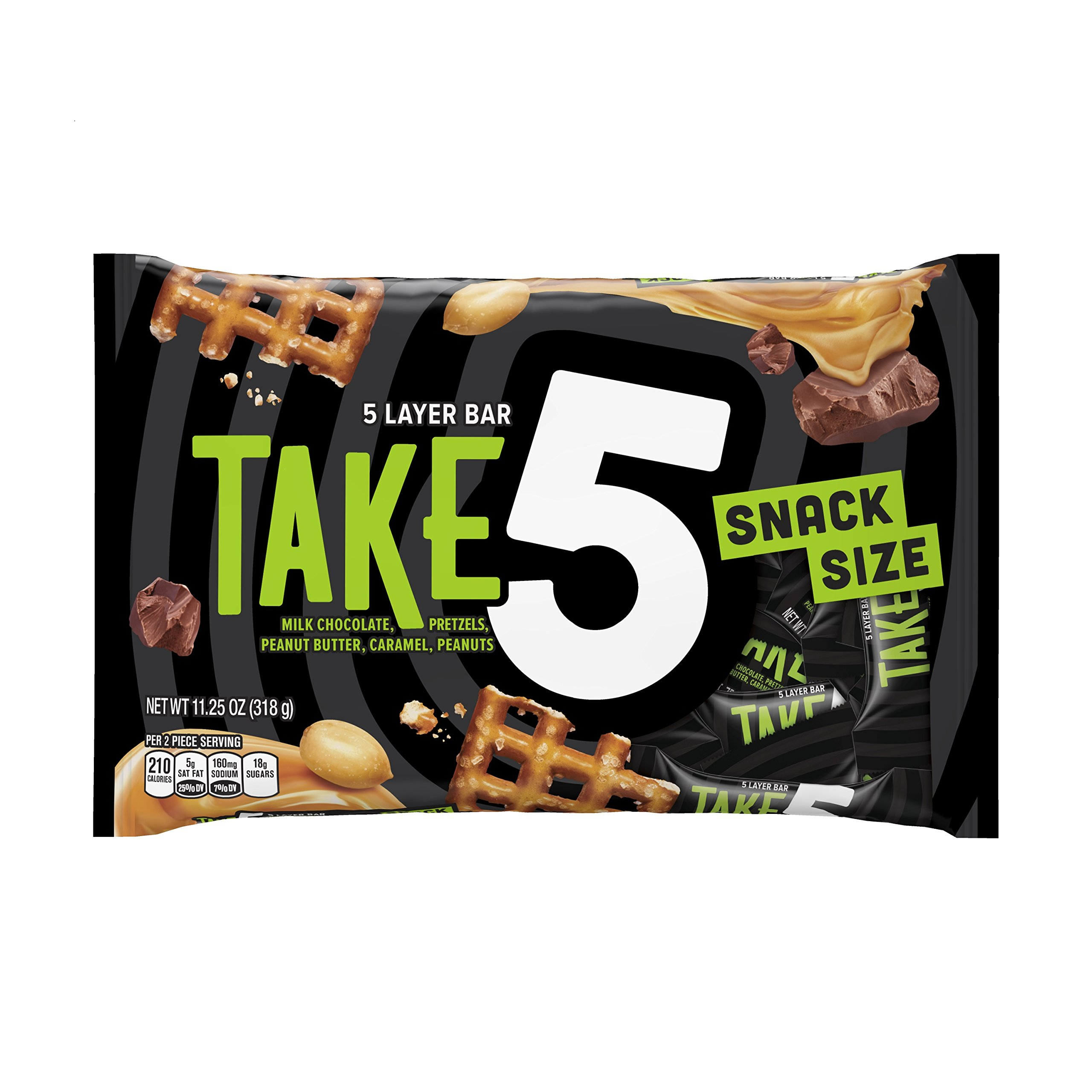 TAKE5 Snack Size Bars (11.25-Ounce Bag, Pack of 6)