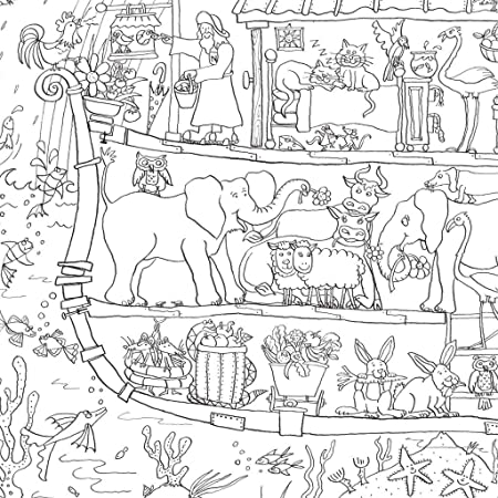 Noahs Ark Colouring Poster Giant Size 100 X 70cm Amazoncouk