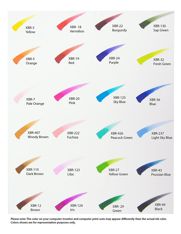 amazon com sakura xbr 24sa 24 piece koi assorted coloring brush
