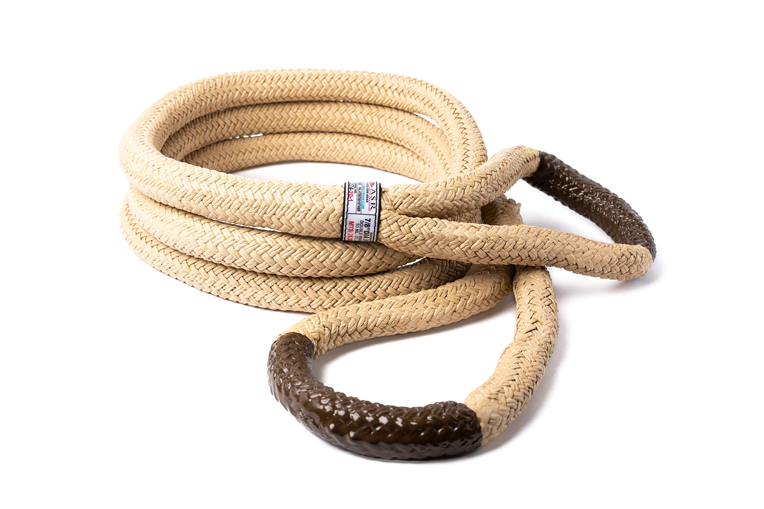 A.S.A.R. Ultimate Kinetic Recovery Rope 7/8'' (30') by ASR Offroad