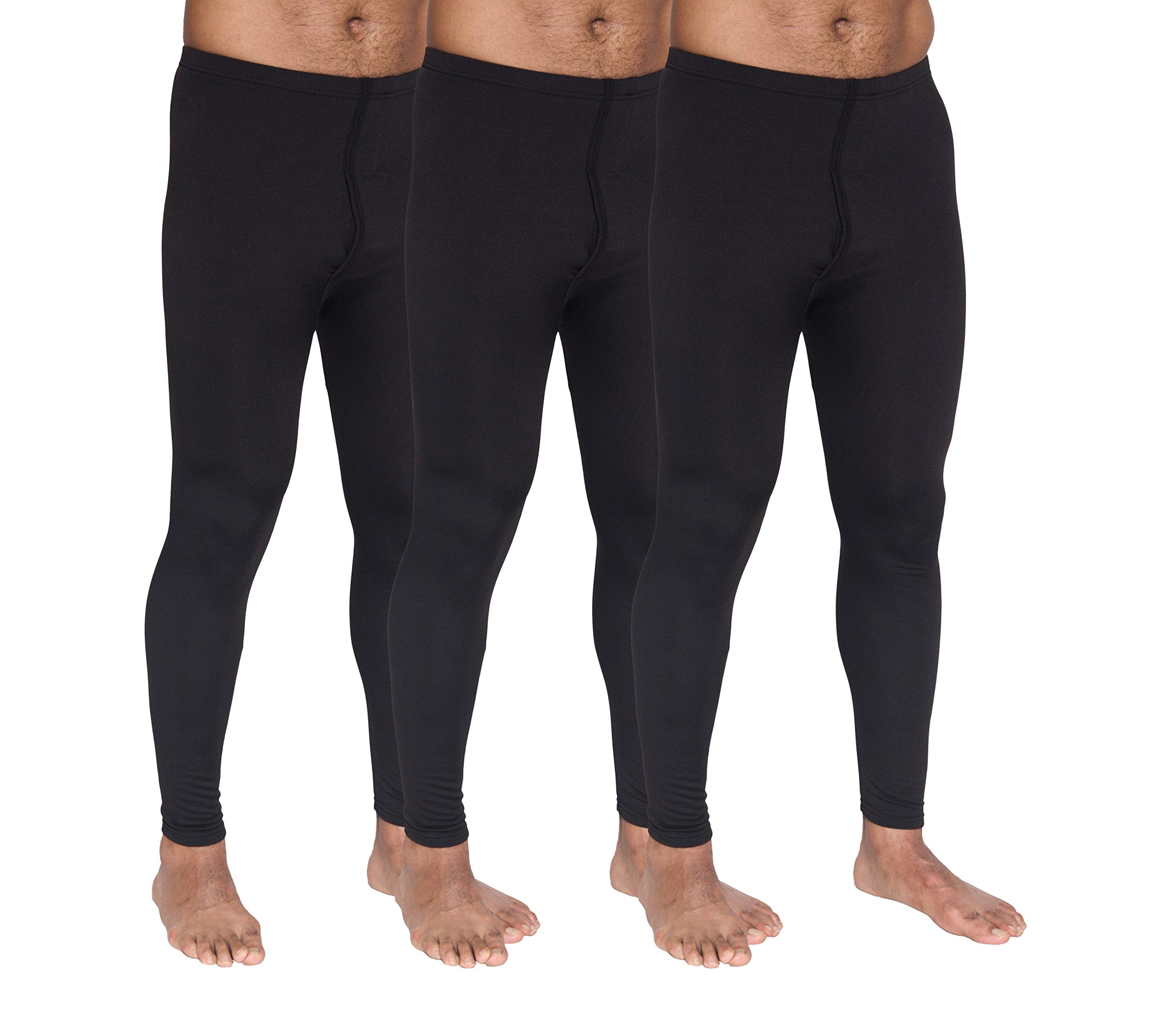 3-Pack: Men's Thermal Underwear Pants Set Warm Long Johns Compression Underpants Leggings Training Tights Active Clothing - Set 2, XL by Real Essentials