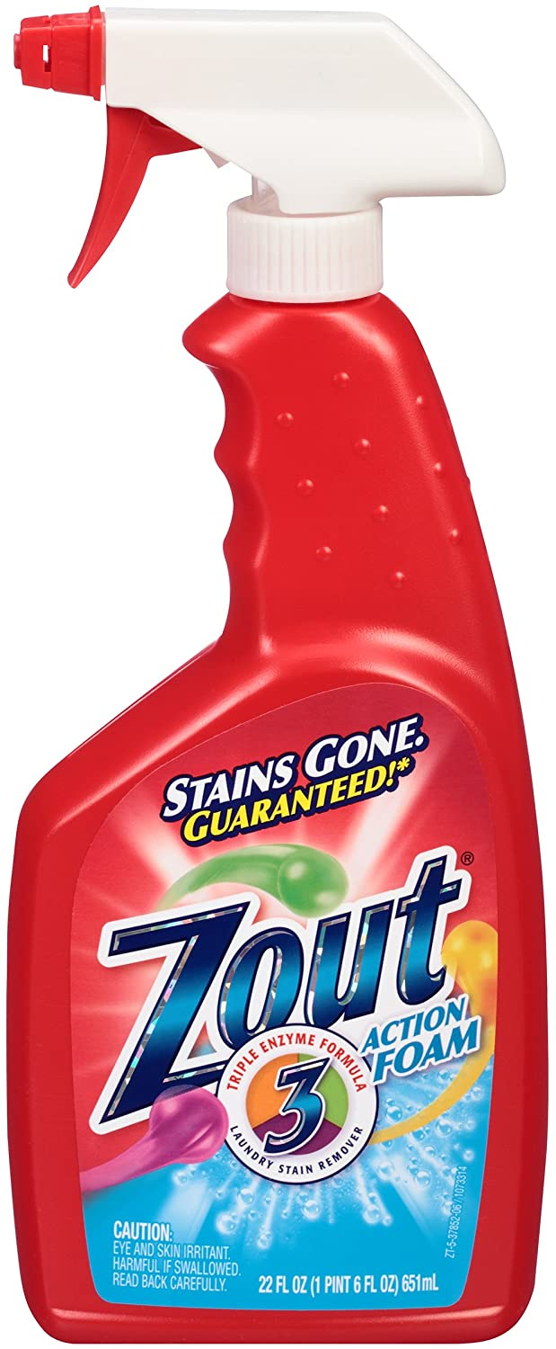 Zout Triple Enzyme Formula Laundry Stain Remover Foam, 22 Ounce
