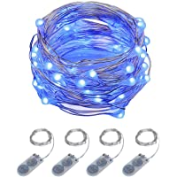 ITART Micro LED String Lights Battery Powered 4 Packs Fairy Light 20 LED 6Ft for Trees Wedding Parties Indoor Bedroom