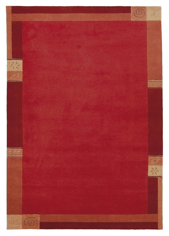 TEPPICHWELT SONA-LUX Nepal Teppich handgeknüpft rot