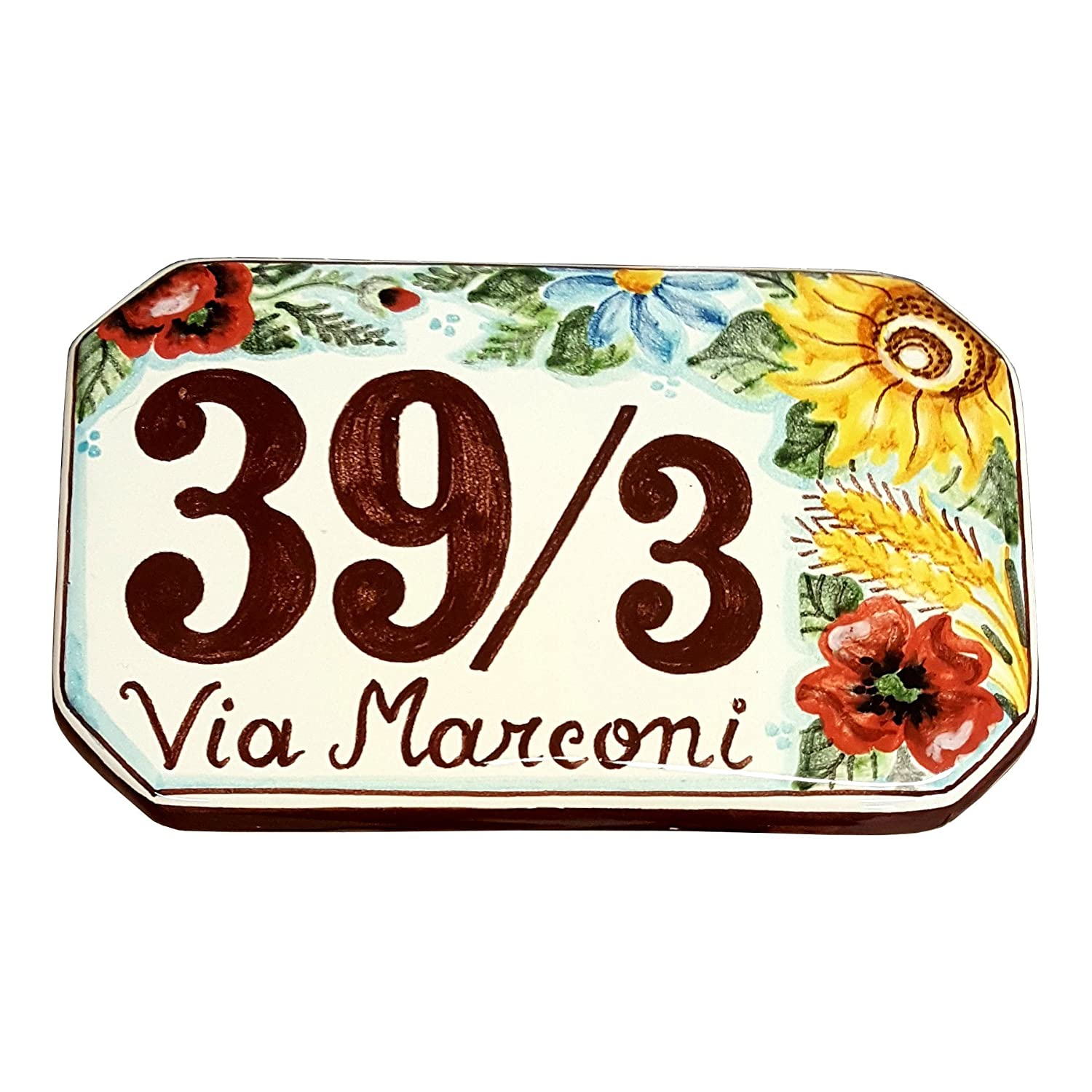 Amazon ceramiche darte parrini italian ceramic art pottery amazon ceramiche darte parrini italian ceramic art pottery tile custom house number civic address plaques decorative hand painted made in italy dailygadgetfo Choice Image