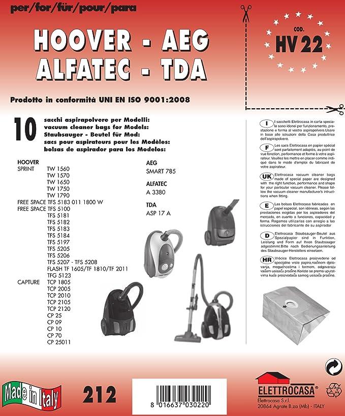 Amazon.com: Elettrocasa HV 22 Dust Bag – Vacuum Accessories ...