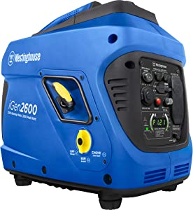 Westinghouse iGen2600 Super Quiet Portable Inverter Generator 2200 Rated 2600 Peak Watts, Gas Powered, CARB Compliant