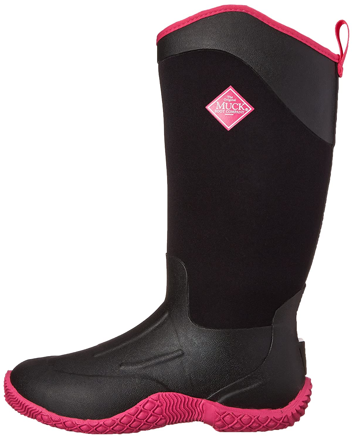 MuckBoots Women's Tack Boot II Tall Equestrian Work Boot Tack B00NV61Z2W 5 B(M) US|Black/Hot Pink 305587