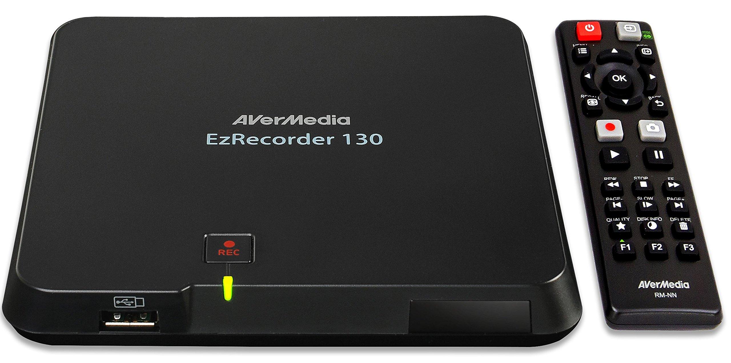 AVerMedia EzRecorder, HD Video Capture High Definition HDMI Recorder, PVR, DVR, Schedule Recording, 32GB Flash Drive Incl  (ER130) by AVerMedia