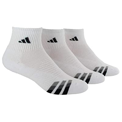 .com : adidas Men's Cushioned Quarter Compression Socks (3-Pack) : Clothing
