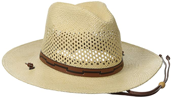 c2d7511d Stetson Men's Airway Vented Panama Straw Hat, Natural, Small: Amazon ...