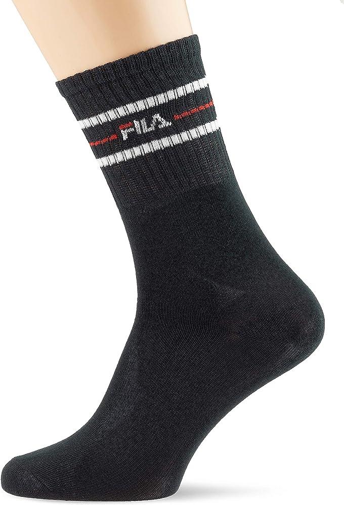 Fila Unisex Street Socks 3-pack F9092 Calcetines, Negro (Black 200 ...