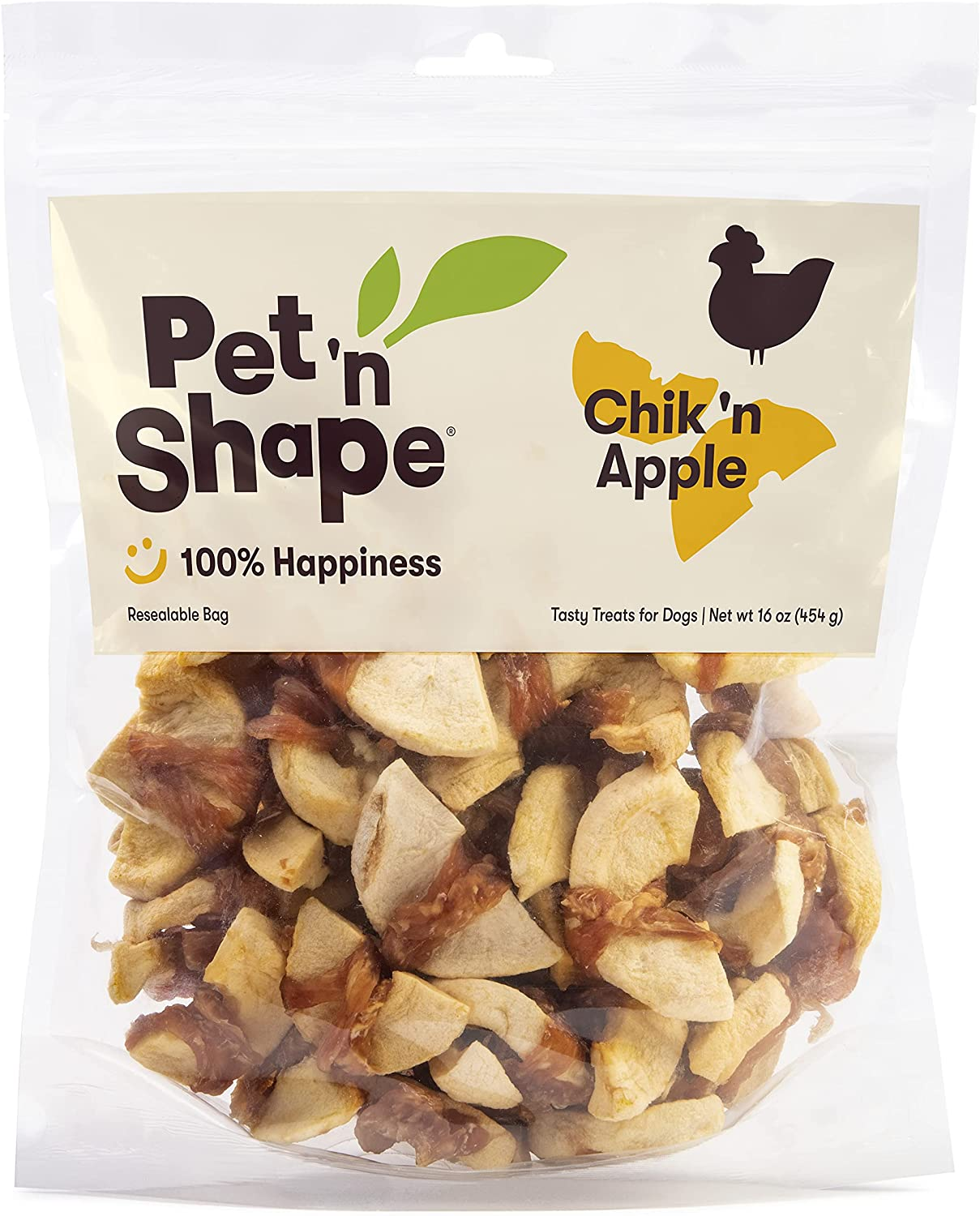 Pet 'n Shape Chik 'n Apple – Natural Chicken Wrapped Dog Treats – 16 Ounces