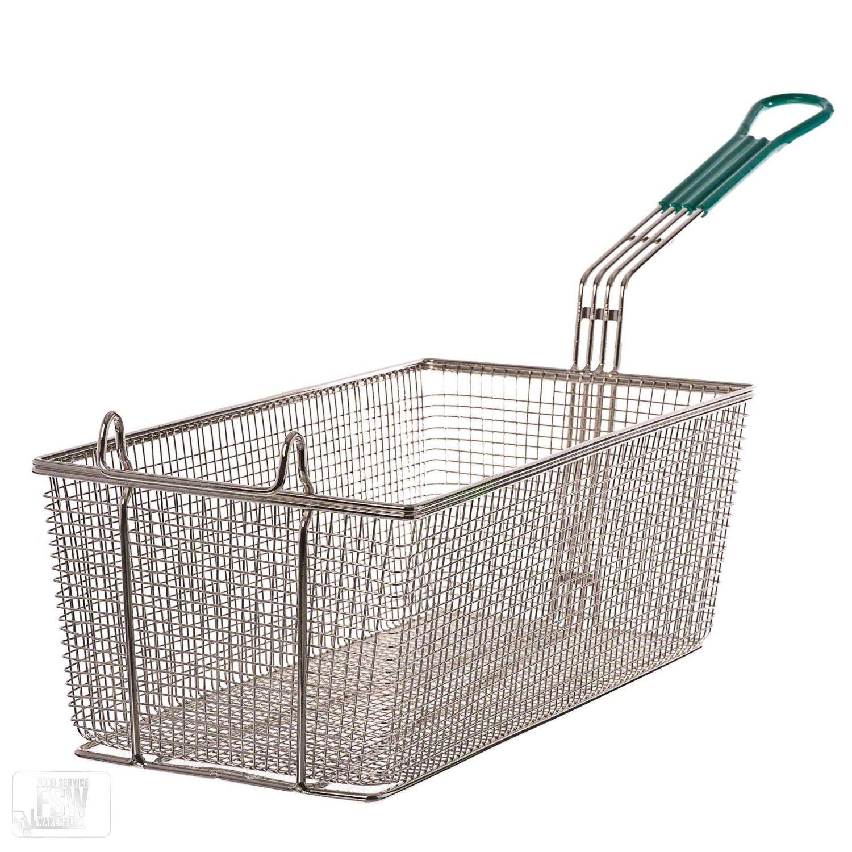 Update International FB-178PH Fryer Basket 17in x 8in, w/Plst Handle