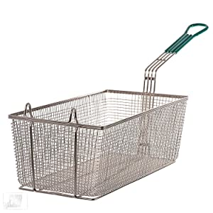 Update International FB-178PH Fryer Basket 17in x 8in, w/Plst Handle