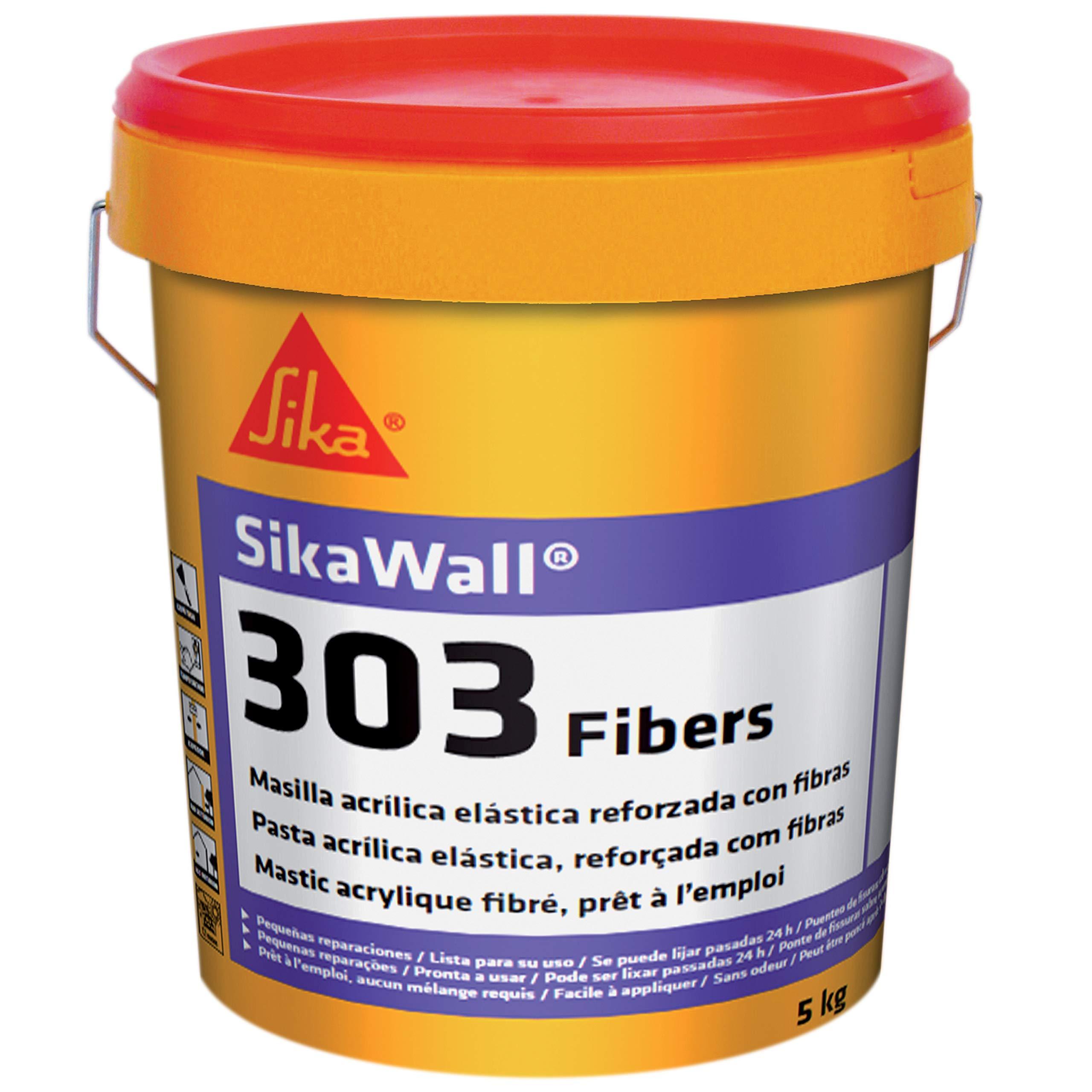 Sikawall-303 Fibers, Masilla fibra de vidrio, Blanco, 5kg product image