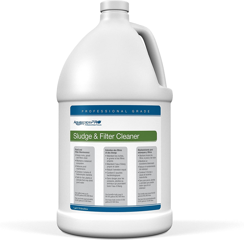 Amazon Com Aquascape Sludge Cleaner Water Treatment For Ponds Pro Contractor Grade Liquid 1 Gallon 3 78 L 30408 Pond Water Treatments Garden Outdoor